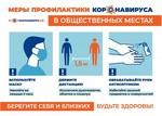 Меры профилактики коронавируса в общественных местах